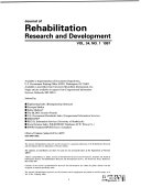 cover of the Journal of Rehabilitation Research and Development