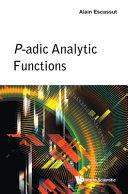 P-adic analytic functions